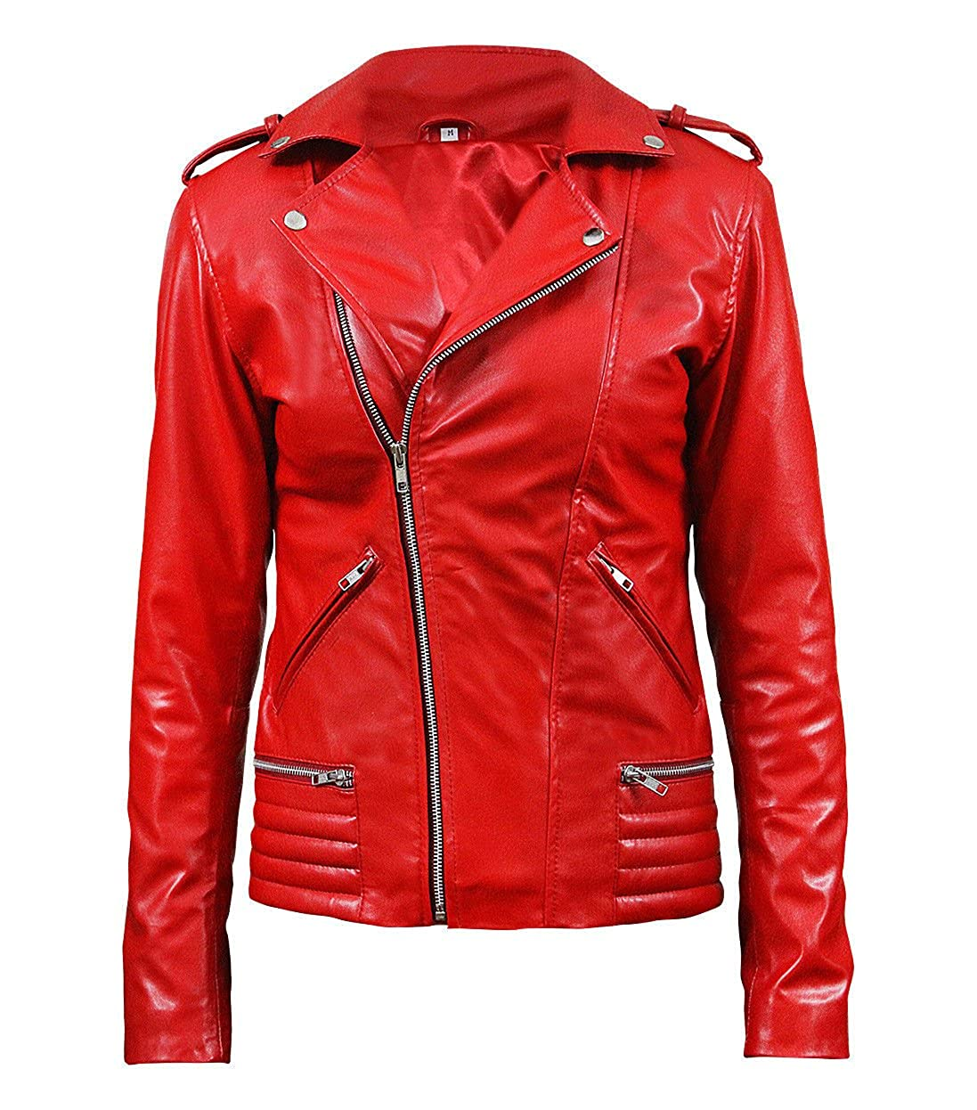 Womens Cheryl South Slimfit Side Blossom Hi Quality Red Genuine /& Faux Leather Jacket