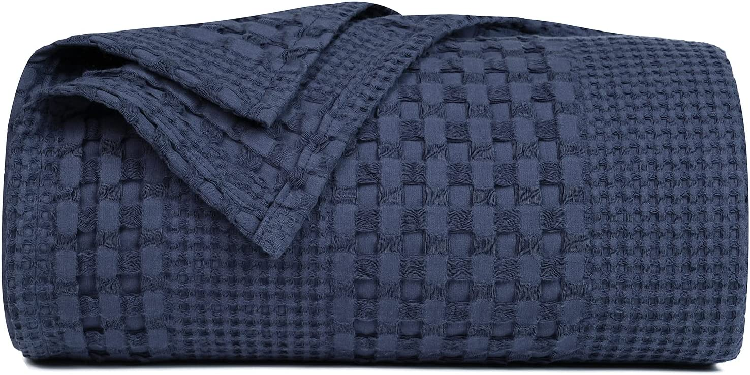 PHF 100% Cotton Waffle Weave Blanket King Size 108