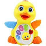Baby Musical Toys Lovely EQ Flapping Yellow Duck with Music Lights and Talks (Adjustable Volume Sound Learning Toys for Toddlers (New Gifts for Your Babies)