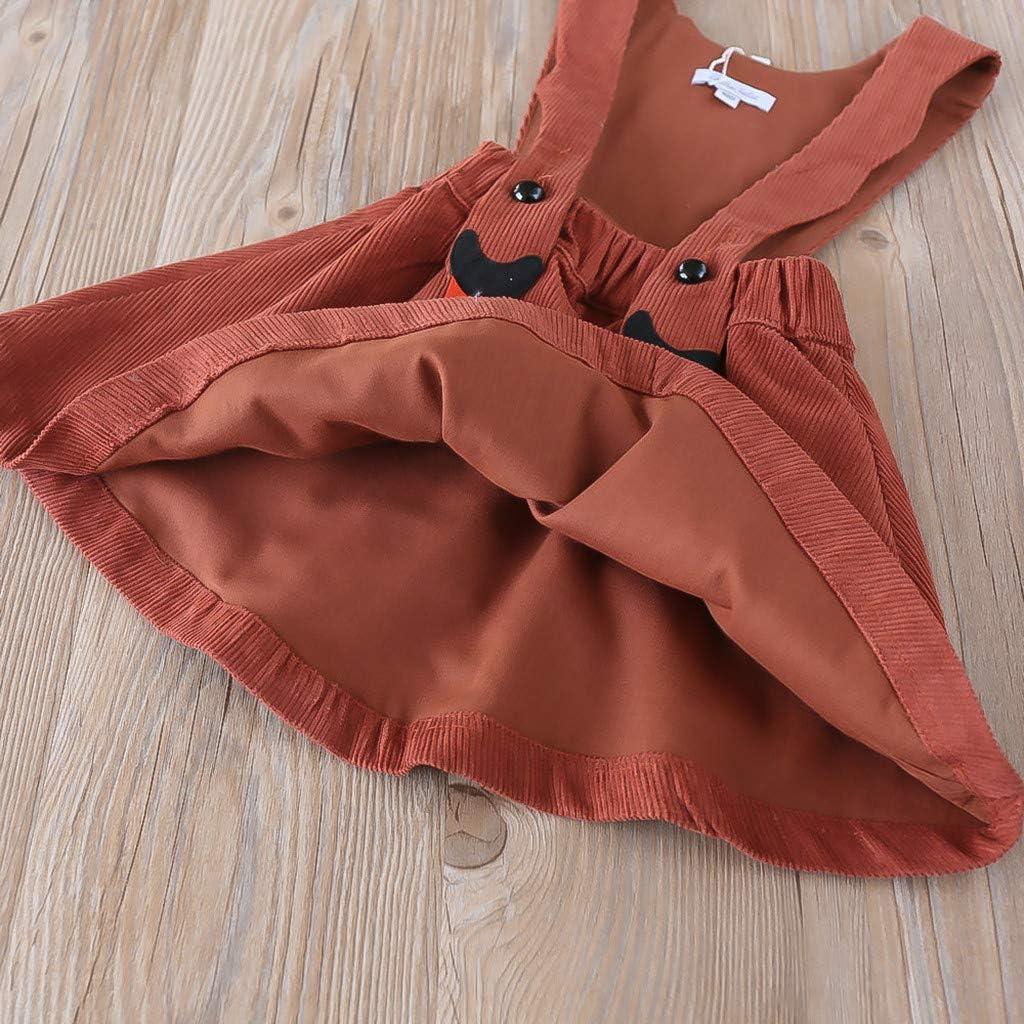 YWLINK M/äDchen Overall Kleid Bib A-Linien Shiftkleid Latzkleid S/ü/ß Karikatur Kleiden Cord