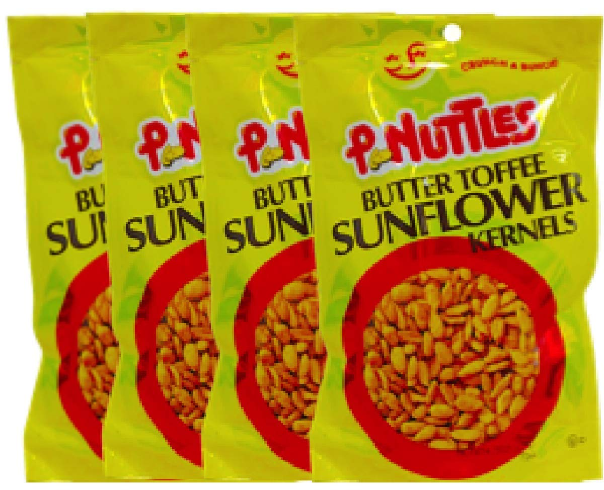 NEW Pnuttles Butter Toffee Sunflower Kernels Net Wt 4.5 Oz (4) by Peanuttles