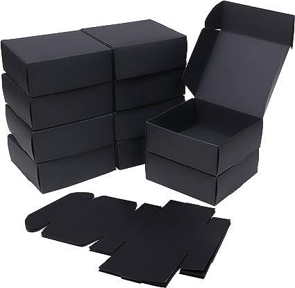 Cajas kraft (Pack de 50) - Cajas Regalo Negras (13x12x5cm) - Kraft ...