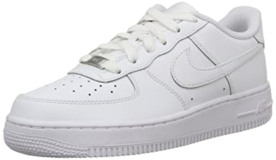 Nike Unisex Kids Air Force 1 Low-Top Sneakers White Size 6 UK