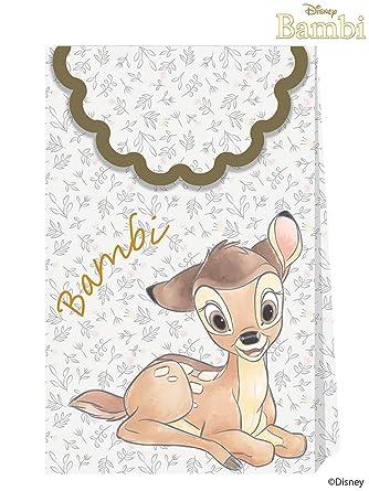 Procos Bambi Cutie papel bolsas de fiesta (paquete de 6 ...