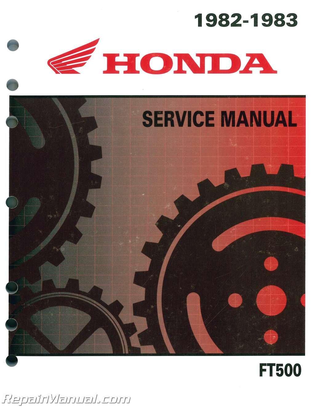 61MC801 1982 - 1983 Honda FT500 ASCOT Motorcycle Service Manual: by Author:  Amazon.com: BooksAmazon.com