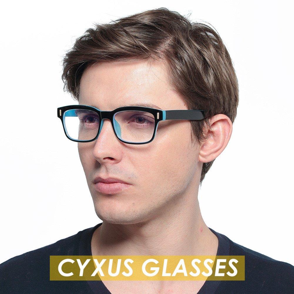 944c1a9474b Cyxus Blue Light Blocking Computer Glasses for Anti Eye Strain UV  Transparent Lens Black Frame Reading