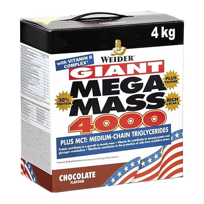 Weider Mega Mass 4000, Gainer, Sabor Vainilla - 4000 gr: Amazon.es: Salud y cuidado personal