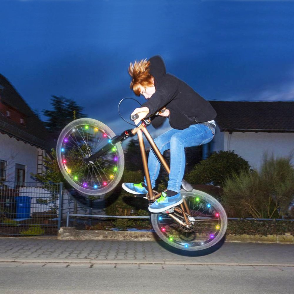 DIMY Bike Wheel Lights, LED Bike Wheel Light for Boys Toys for 5-16 Year Old Boys 5-14 Year Old Boy Gifts for Teen Girl Outdoor Toys Multicolor TTB07 by DIMY (Image #3)