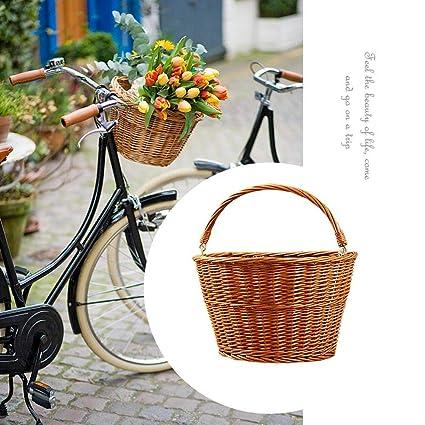 Cesta de Mimbre Vintage para Bicicleta Cesta Retro Hecha a Mano Twenty Go