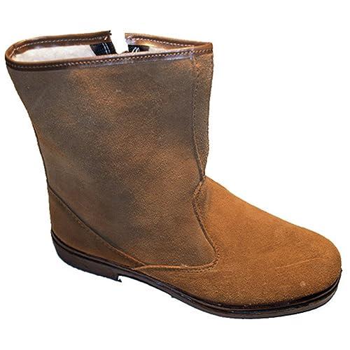 c5341222f Bota Serraje Media caña con Cremallera Altureña en Camel Talla 46   Amazon.es  Zapatos y complementos