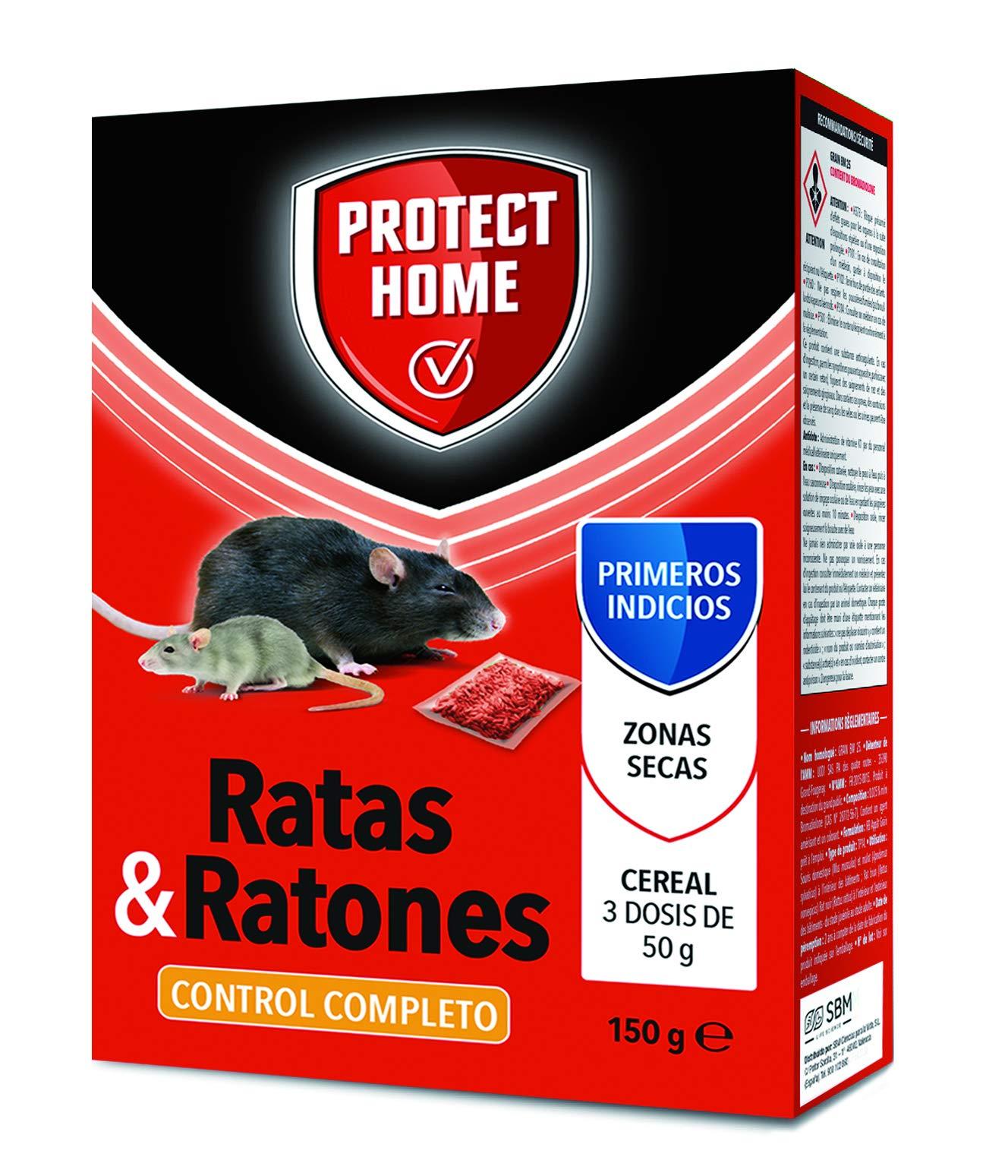 Protect Home Raticida en Cereal de Alta eficacia y Poder de atracción para Zonas secas.