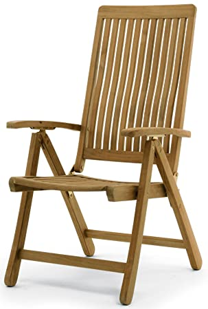 made on earth teak recliner chair amazon co uk garden outdoors rh amazon co uk