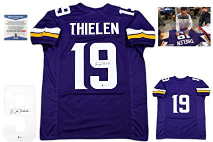 3f0198cc760 Image Unavailable. Image not available for. Color: Adam Thielen Autographed  Signed Jersey - Purple - Beckett Authentic