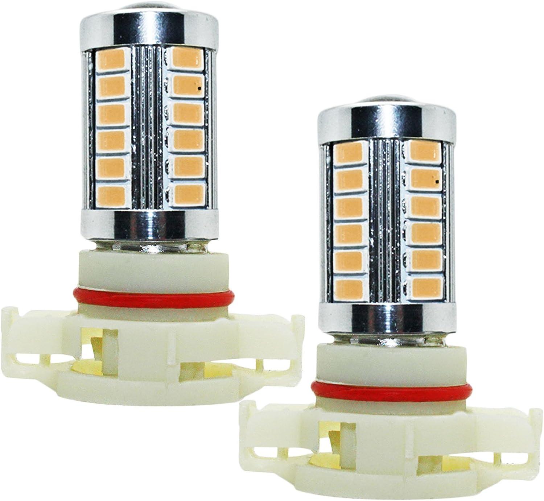YaaGoo bright fog lights LED DRL bulbs,amber,H8 H9 H11