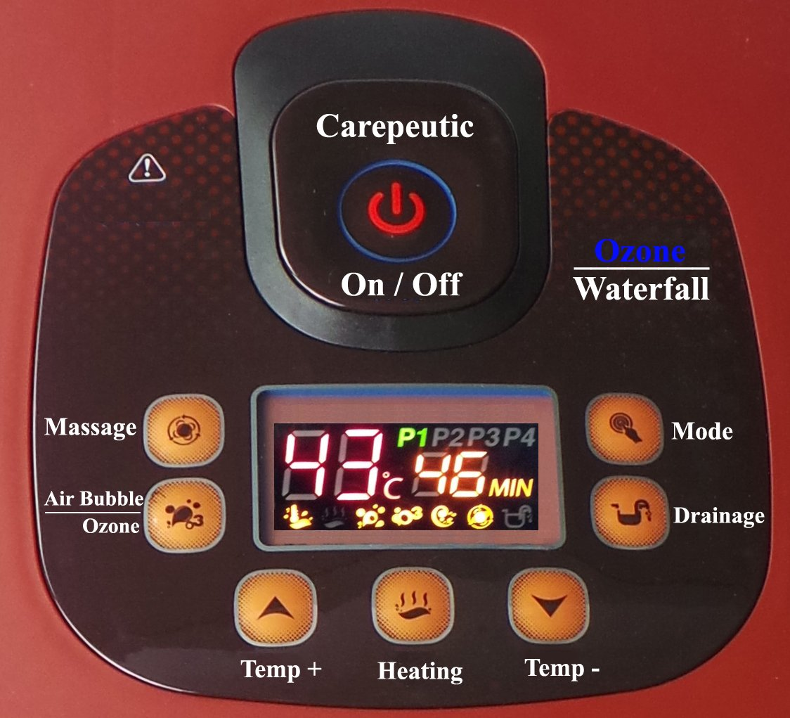 Carepeutic Ozone Waterfall Foot and Leg Spa Bath Massager, 20 Pound by Carepeutic (Image #7)