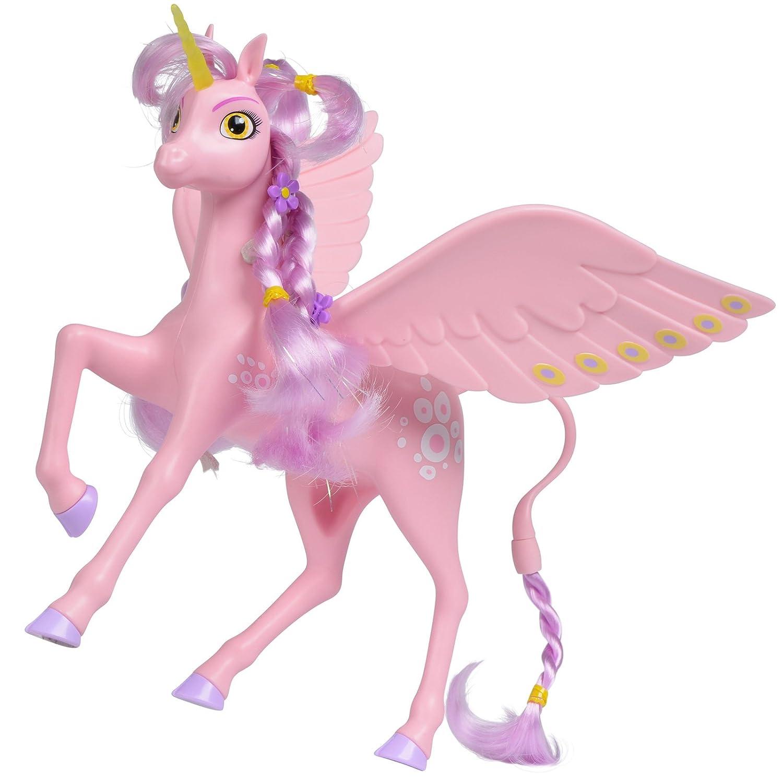 #0618 Spielzeug Pferd Mia und Me Einhorn Kyara mit beweglichen Flügel inklusive Haargummis Bürste • Unicorn Pegasus Reitpferd Pony Kinder H-Collection