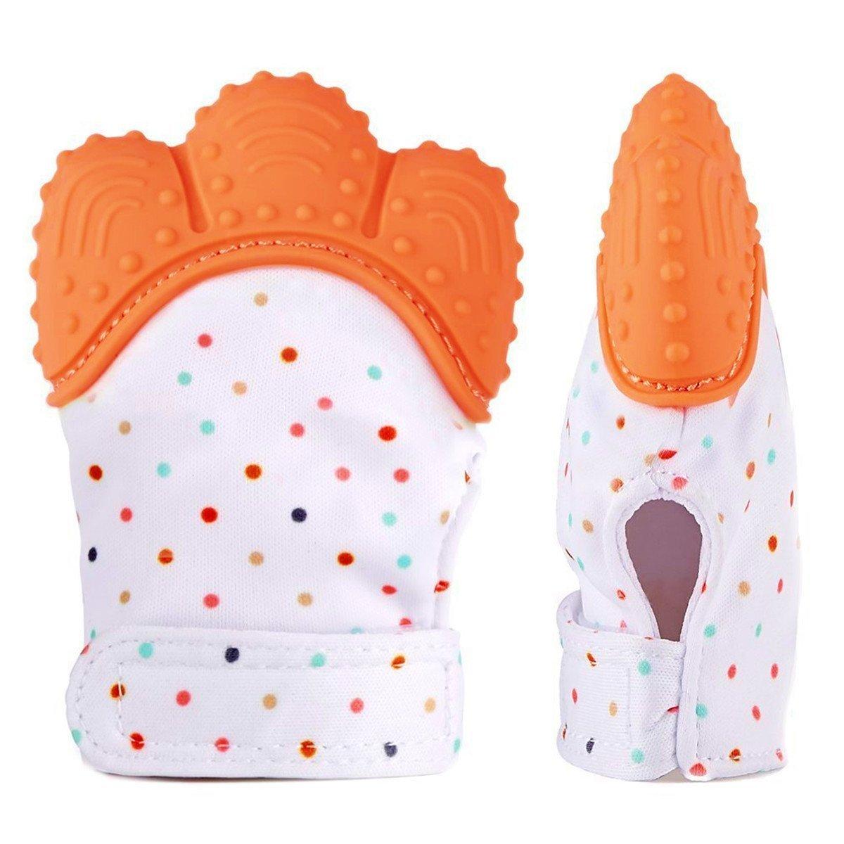 【返品?交換対象商品】 MyBabyLove Teething Teething Mitten MyBabyLove、ベビー歯ブラシ手袋、自己癒しのTeether&赤ちゃん100%の食品グレードBPAフリー - - 年齢3-12月(オレンジ)のためのぬいぐるみの救済玩具 B079DG1S6K, キャニオンプラザ:82f54dcf --- a0267596.xsph.ru