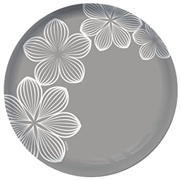 Dajar Platos de Postre Dream Flower 20,5 cm Ambition, Cristal, Gris, cm: Amazon.es: Hogar