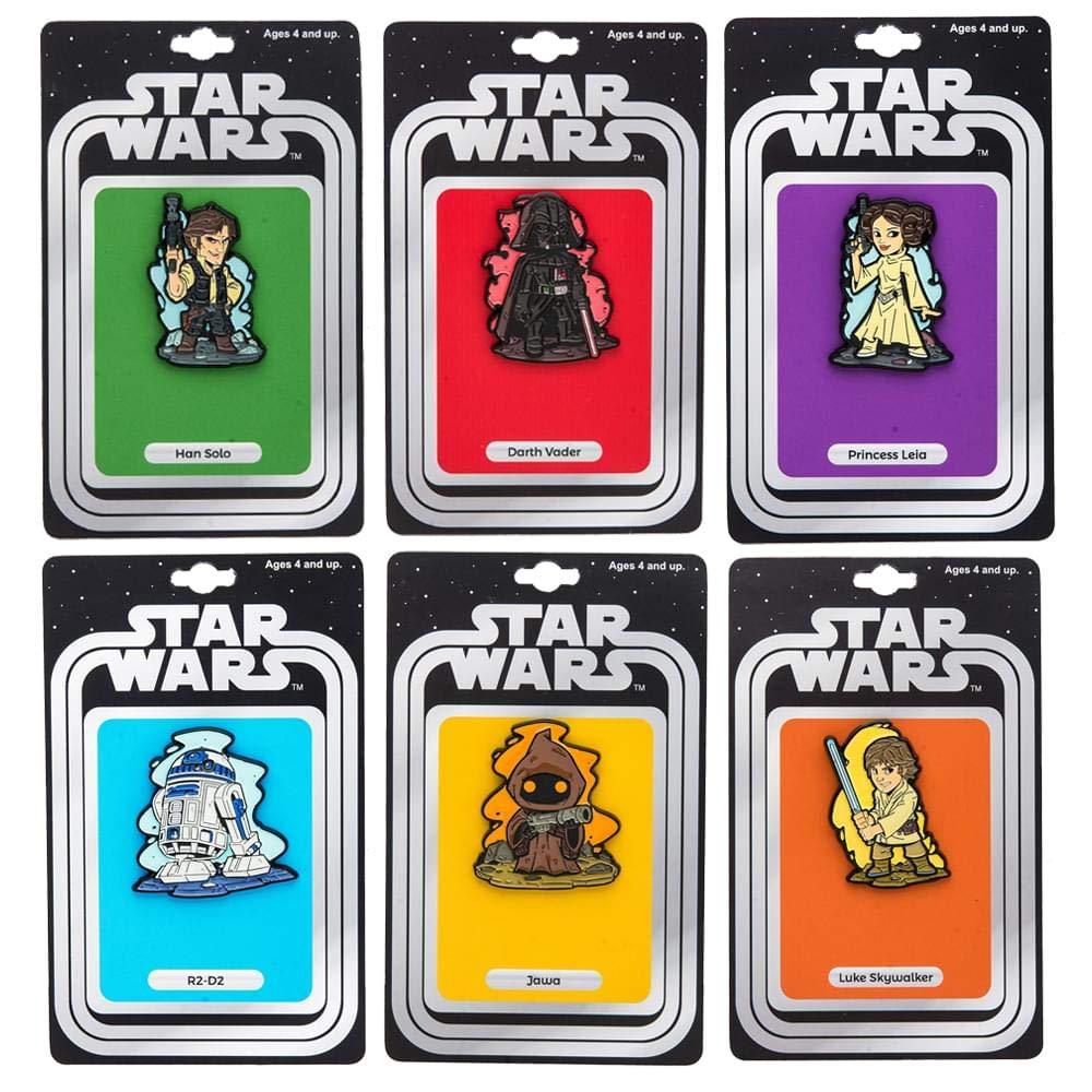 Star Wars Derek Laufman Enamel Collector Pins, Set of 6