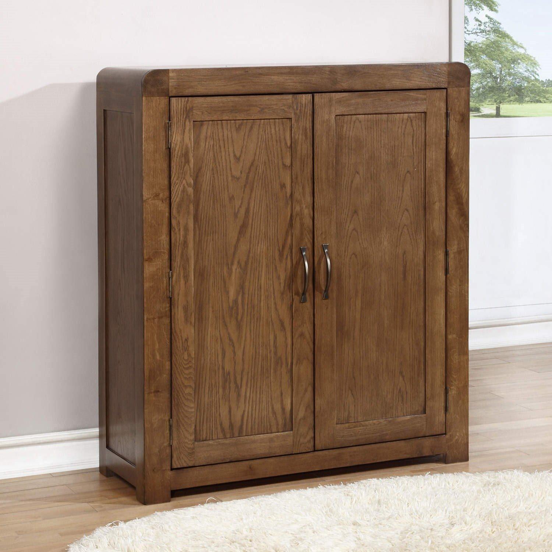 Windsor Solid Dark Oak Shoe Storage Cupboard   20 Pairs: Amazon.co.uk:  Kitchen U0026 Home