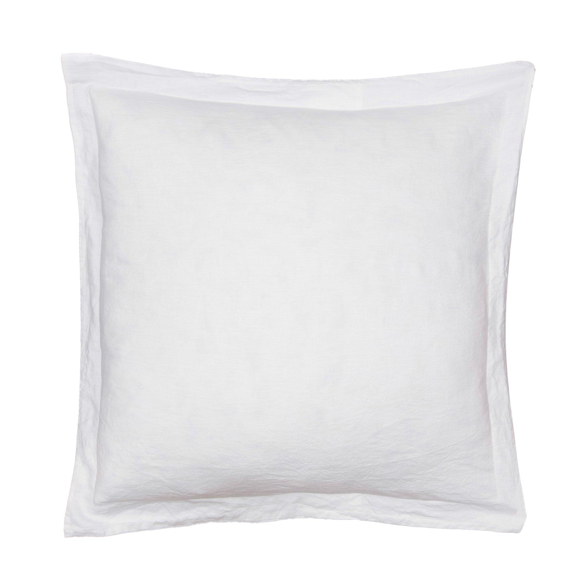 Levtex Washed Linen White Euro Sham w/Flange