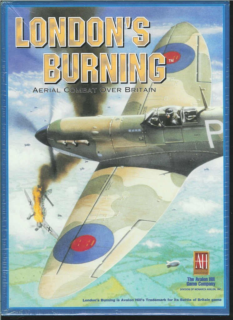 Aerial Combat Over Britain! Avalon Hill LONDONS BURNING