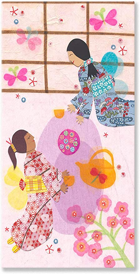 Oopsy Daisy Canvas Wall Art Japanese Tea Ceremony By Libby Ellis 12 By 24 Inch Childrens Wall Decor Posters Prints