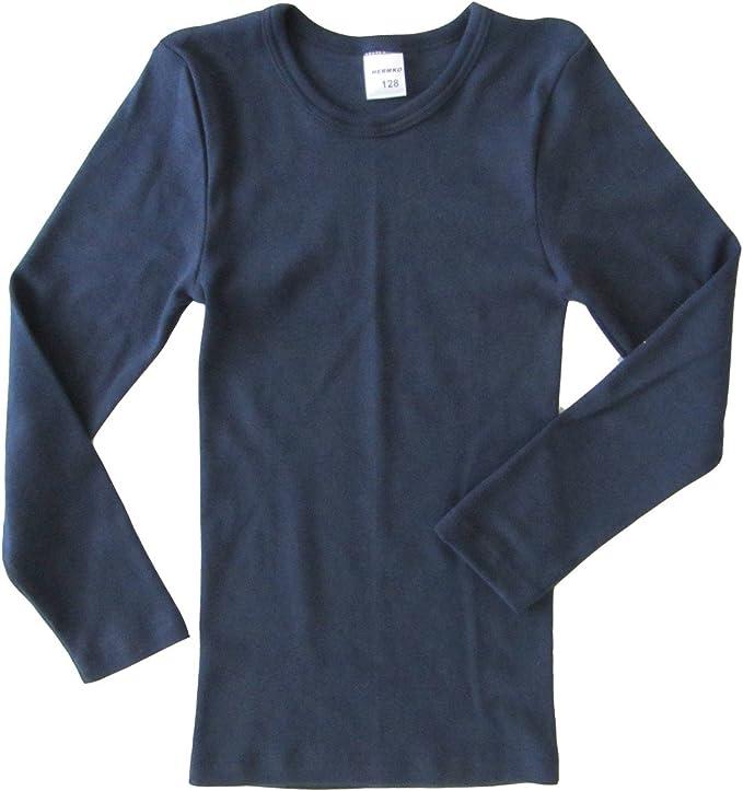 HERMKO 62830 V/êtement Fonctionnel Enfant T-Shirt Manches Longues pour Le Sport et Le Quotidien