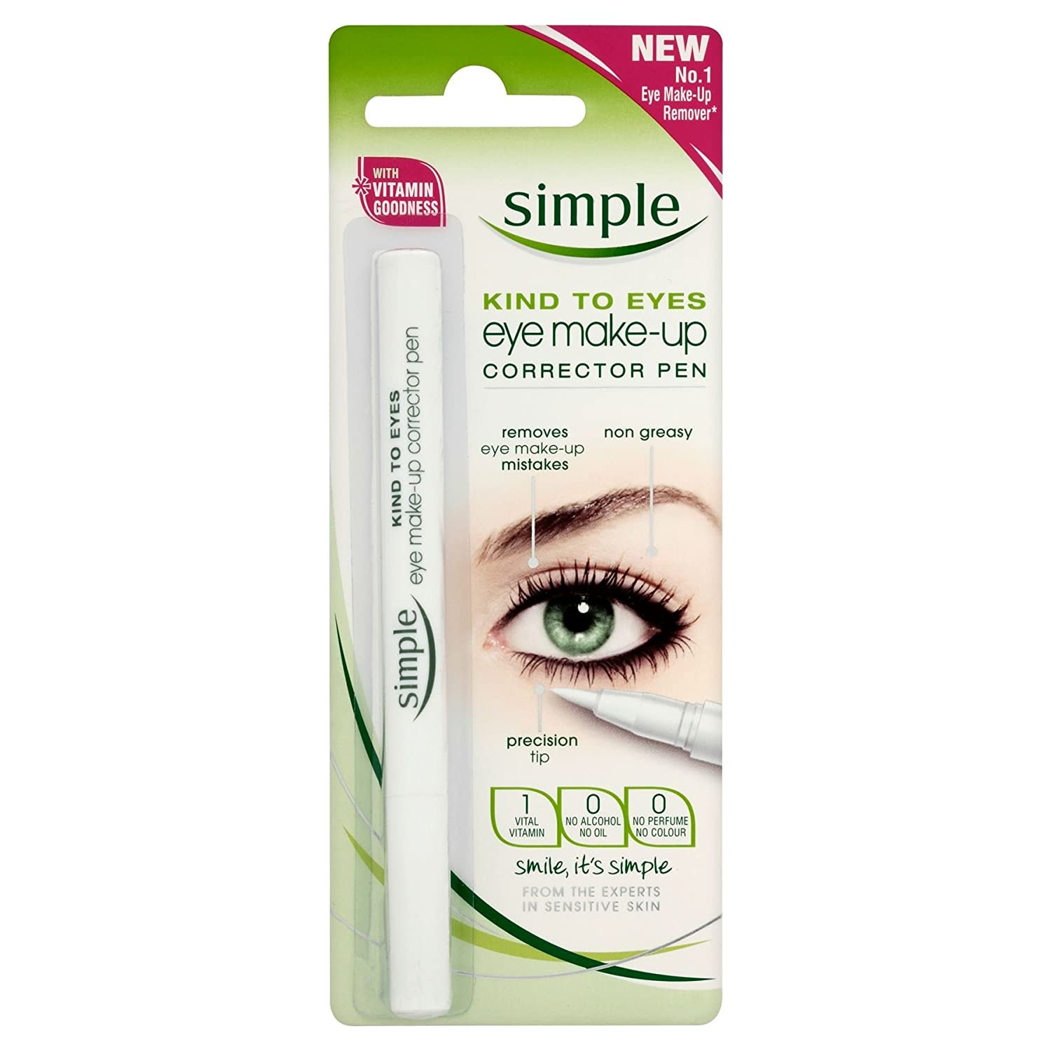 6 x Simple Kind To Eyes Eye Make-Up Corrector Pen