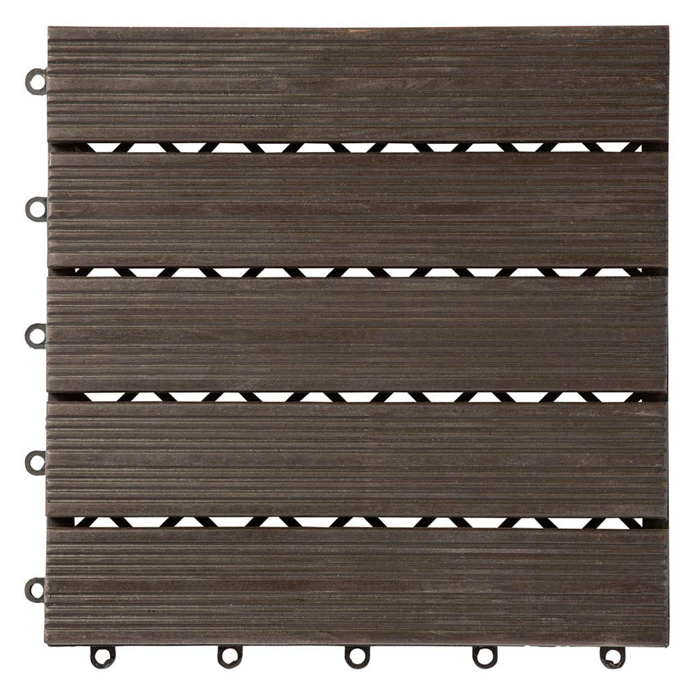木製ジョイントデッキパネル 27枚組 545818(サイズはありません イ:ダークブラウン) B07F57K4LV  イ:ダークブラウン
