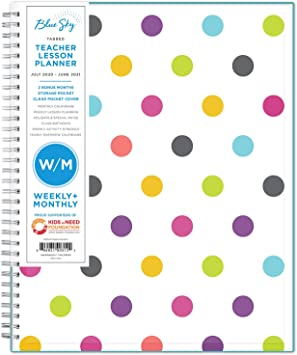"""2020-2021 100759-A Blue Sky Ampersand Dots Academic Planner 8-3//4/"""" x 11/"""""""