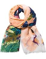 foulards desigual 74w9ef4 rectangle tropicla fly orange