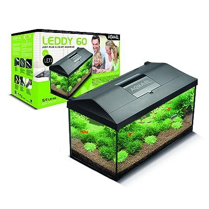 Aquael LEDDY 60 equipado con acuario de 60 x 30 x 30 cm 54 L