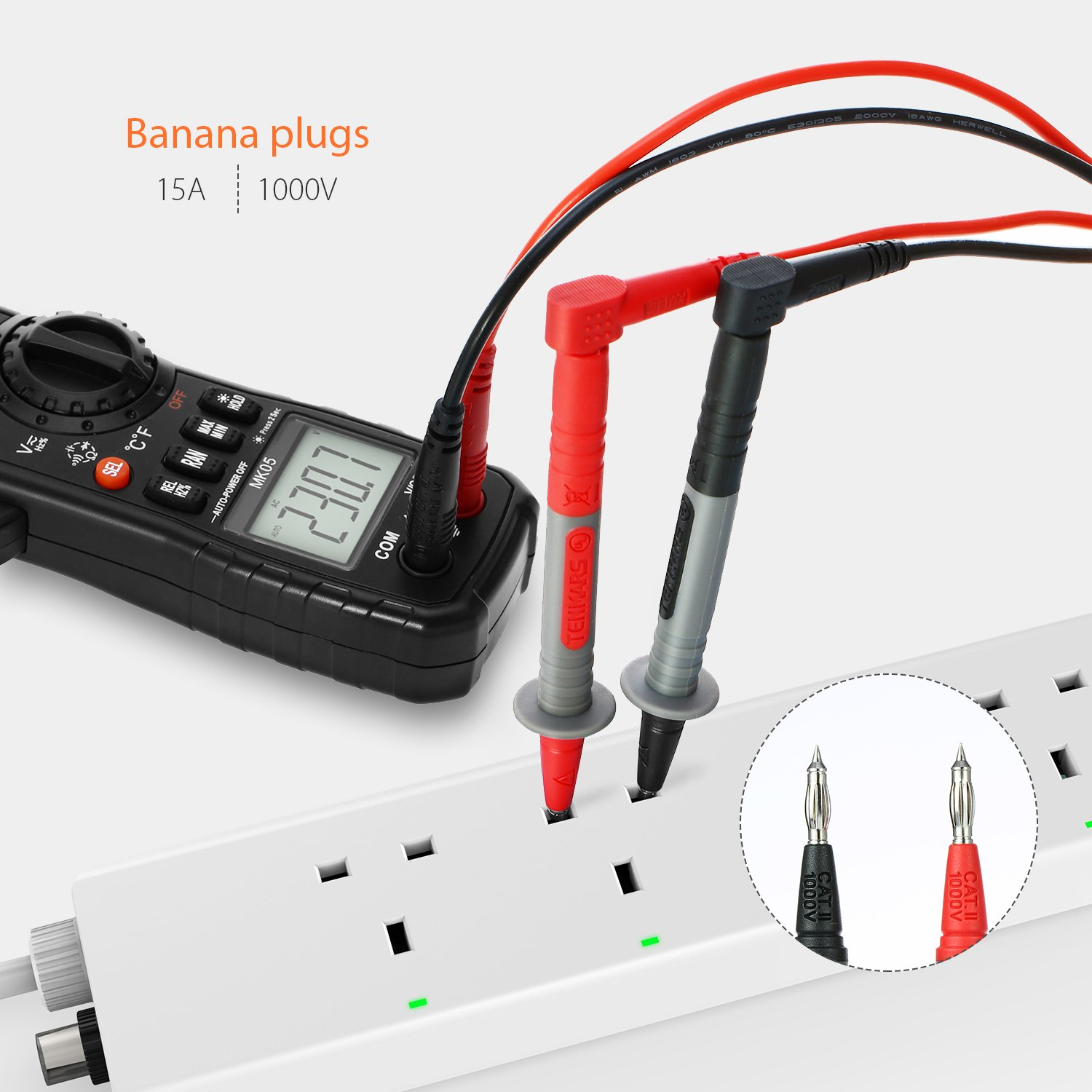 Test Lead Kitsmeterk 9pcs Electronic Multimeter With Alligator Remote Control Toy Car Transmitter Circuit Automotivecircuit Clips Replaceable Probes Tips Accessories Kit For Dmm Digital Multi Meter Clamp