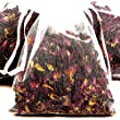 NUTMEG & CREAMY VANILLA 4 x Scented Bath Tea Sachets & BONUS 12ml Booster Fragrance Oil