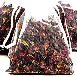 CEDAR WOOD & LEMON 4 x Scented Bath Tea Sachets & BONUS 12ml Booster Fragrance Oil