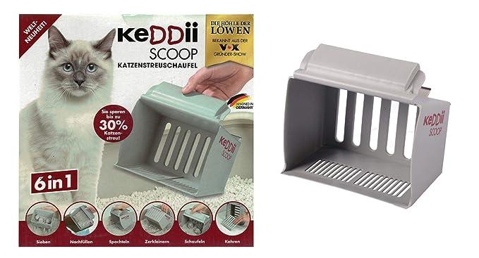 keddii Scoop 02227 XL Gato Pala dispersa | Pala Colador tamaño Adaptable (Gato Inodoro/para Gatos) | hasta 10 x más Volumen como Tradicionales de ...