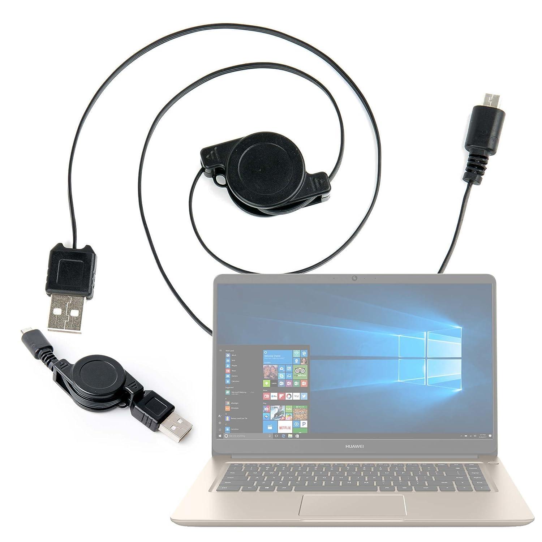 DURAGADGET Cable MicroUSB Retráctil para Portátil Huawei MateBook D Pasar Sus Datos Al PC!: Amazon.es: Electrónica