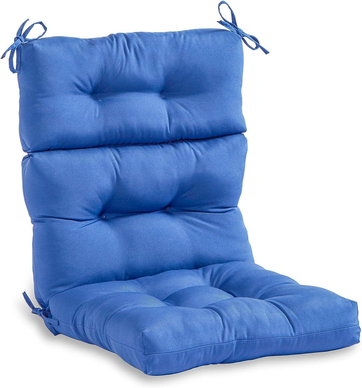 South Pine Porch AM4809-MARINE Solid Marine Blue Outdoor High Back Chair Cushion