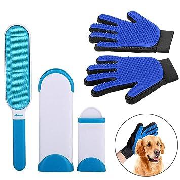 Colmanda Guante para Mascotas Cepillo Quitapelos de Perro, Cepillo de Limpieza para Perros y Gatos, ...