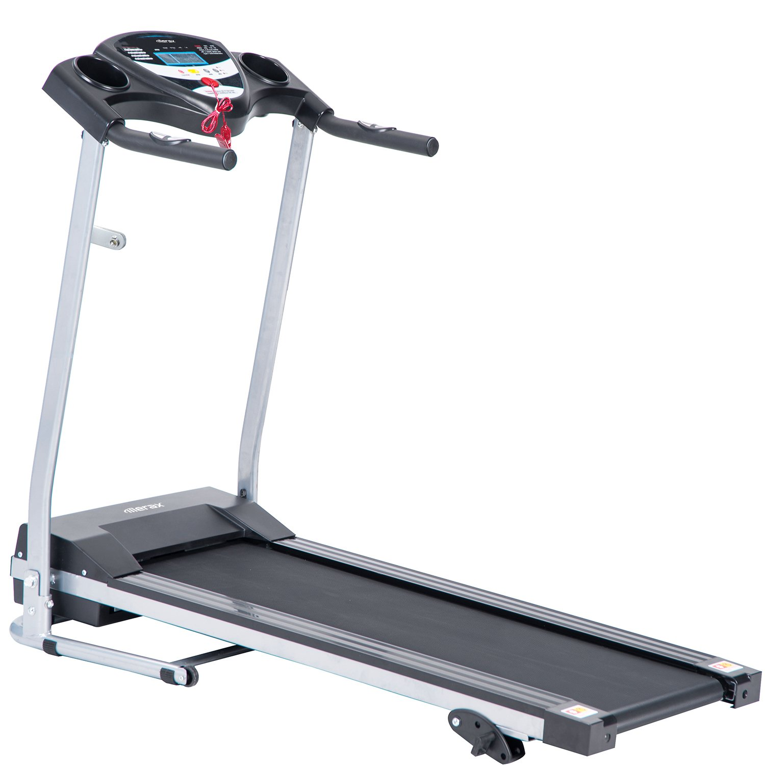 Merax Electric Folding Treadmill Motorized Running Machine JK1605 Easy Assembly (Black)