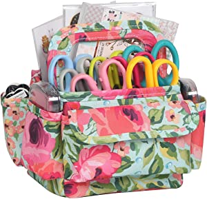 Everything Mary Organizer Storage Caddy for Desk, Floral - Art Supplies Tote Office & Desktop - Craft Supply Organizers for Crafts, Nurse, Makeup - Work Holder for Scrapbook, Sewing, Arts,& School…