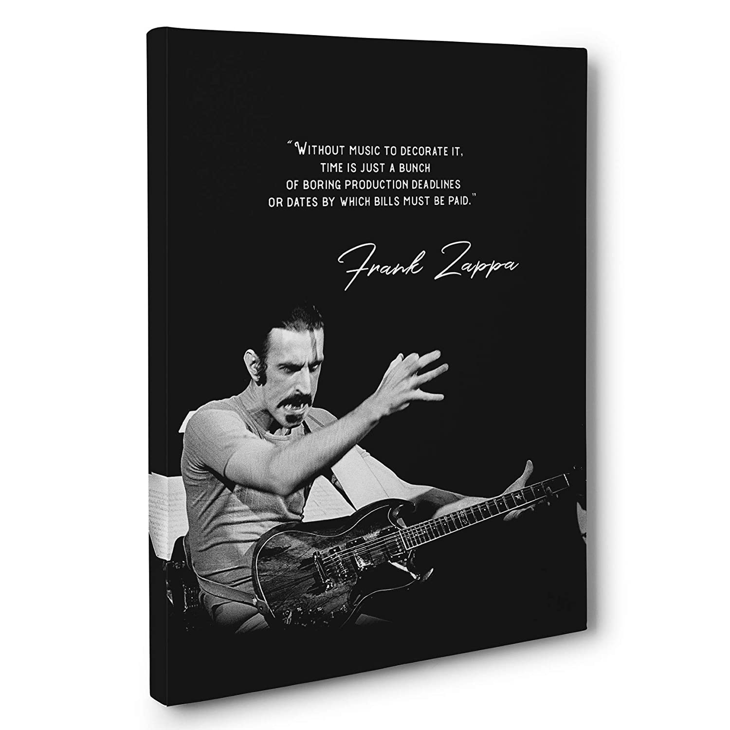 Frank Zappa Motivational Quote Canvas Wall Art