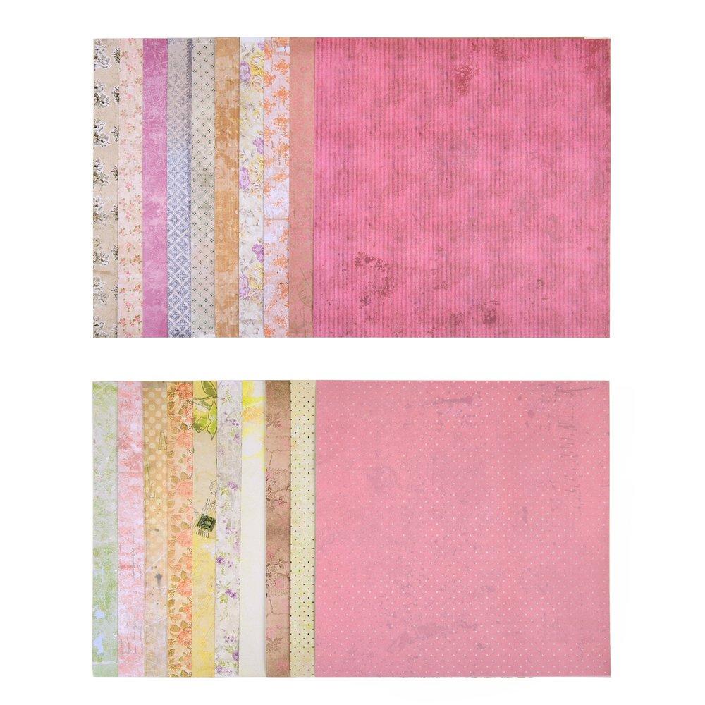 3/x Motif bloc de 20/feuilles imprim/ées recto-verso papier de bricolage 60/Designs papier design 60/feuilles
