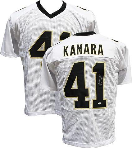 16bd70fd441 Authentic Alvin Kamara Autographed Signed White Custom Jersey (JSA Witness  COA) New Orleans Saints