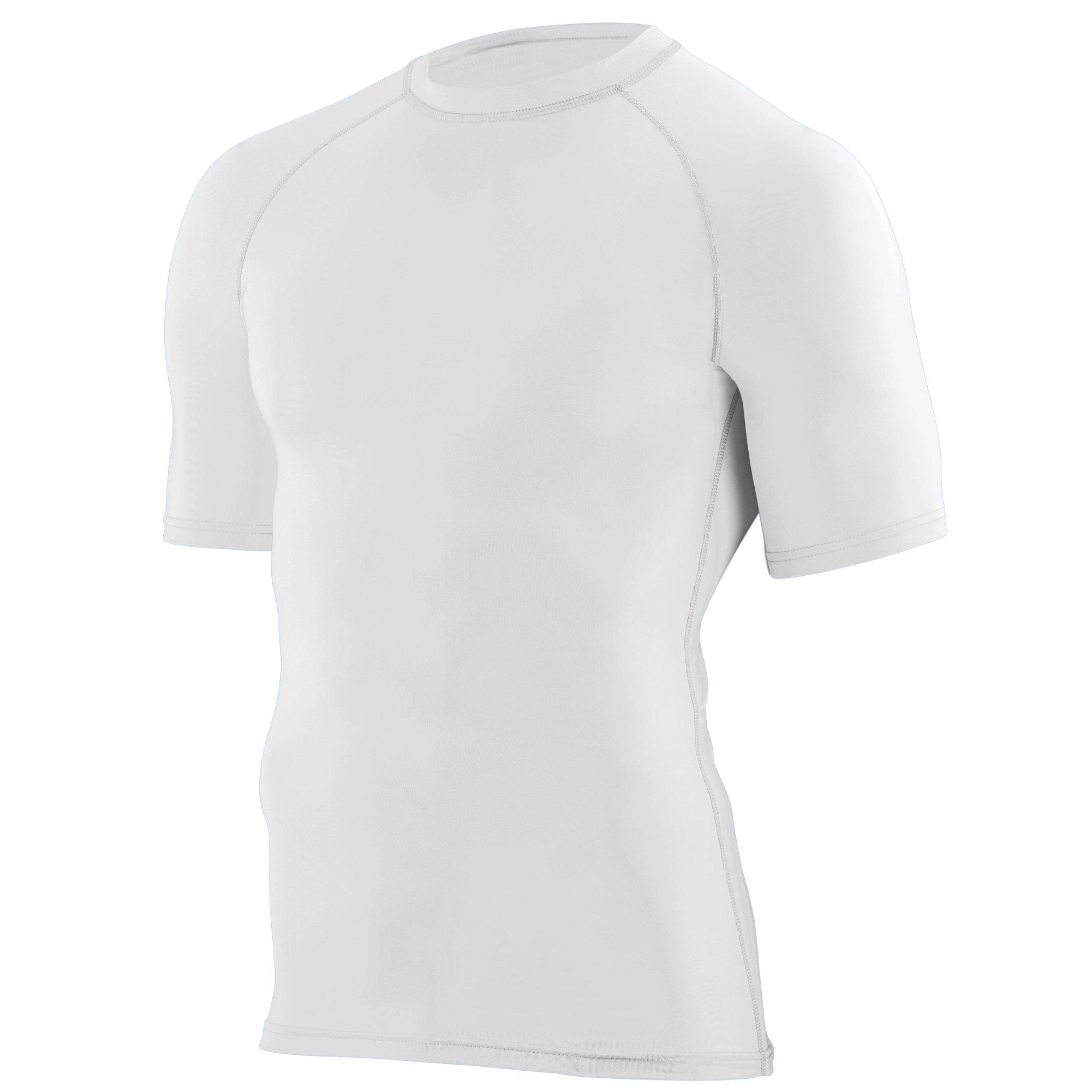Augusta Sportswear Boys' Hyperform Compression Short Sleeve Shirt S White
