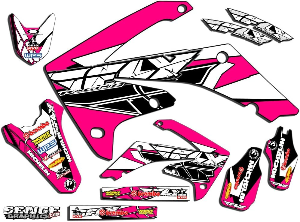 Senge Graphics Kit Compatible with Honda 2004-2017 CRF 250X Fly Racing Red Graphics kit