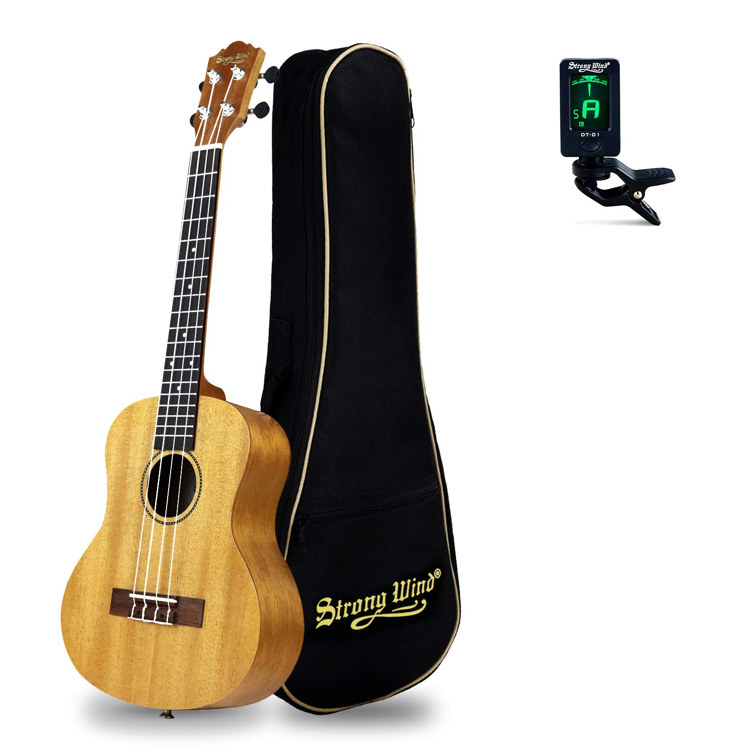 26inTenor Ukulele Start Kit for Adults, Strong Wind Mahogany Body Hawaiian Ukeleles for Beginners, Professional Music Instrument Beginners Kit with Gig Bag, Tuner