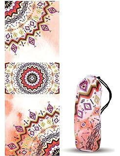 Toalla de Yoga y Pilates UCEC, Diseños Mandala, Toalla esterilla de Yoga Antideslizante,