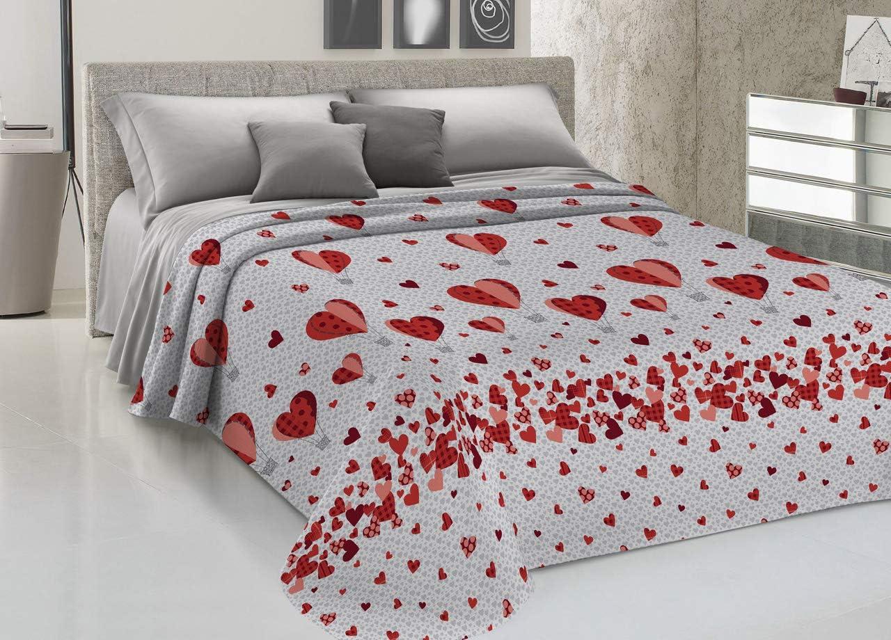 BIANCHERIAWEB Copriletto Piquet in 100/% Cotone Disegno New Orsetti Matrimoniale Rosso
